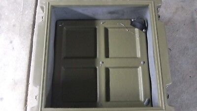 Ex Army Large Storage Box  Hard Plastic Heavy Duty Trim-cast Australia