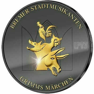 GERMANY 2017 TOWN MUSICIANS OF BREMEN Golden Enigma Silver Coin 20€.