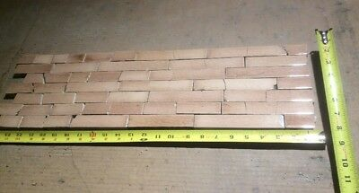 Set Vintage Victorian Fireplace Antique TILE TILES MANTLE Blush Pink Brown  44pc
