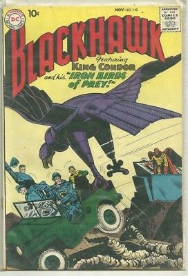 Blackhawk #142 DC Silver Age (1959) Comic Book FN+/VF-