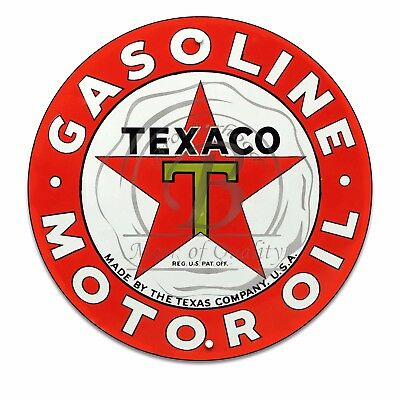 Vintage Design Sign Metal Decor Gas and Oil Sign - Texaco Motor Oil and Gasoline