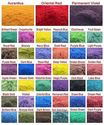 10g Cosmetic Grade Natural Mica Powder Pigment Soap Candle Colorant Dye 39 Color