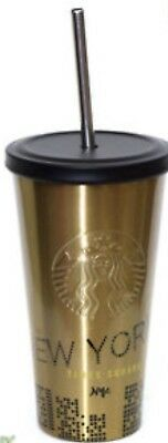 STARBUCKS NEW YORK TIMES SQUARE 16 Oz,STAINLESS THERMOBECHER TUMBLER NEU** SKU**