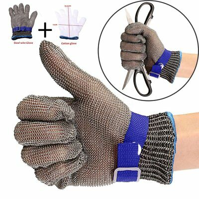 Safety Stainless Steel Metal Mesh Butcher Gloves Cut Proof Stab Protect Glove