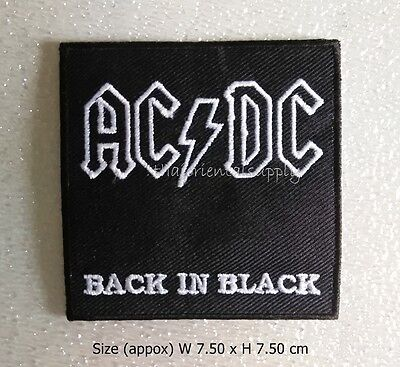 AC/DC hard rock blues rock rock and roll band sew iron on patch embroidered DIY