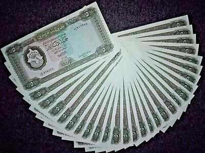 Libya Libyen   5 dinars 1972  banknote ,UNC first issue The piece is $ 9.99