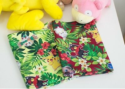 Tropical Pocket Monster, Pokemon, Pikachu Character Fabric by the Yard