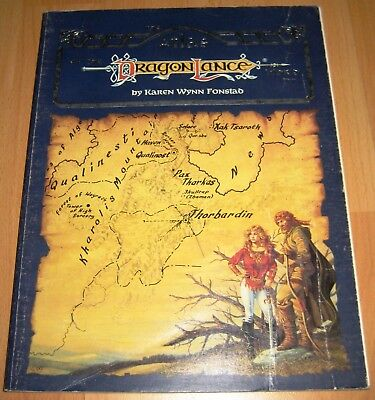 The Atlas of the Dragon Lance World - DragonLance 1987 Dungeons and Dragons D&D