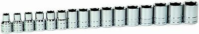 Williams 32943 16-Piece 1/2-Inch Drive Metric Shallow 6 Point Socket Set