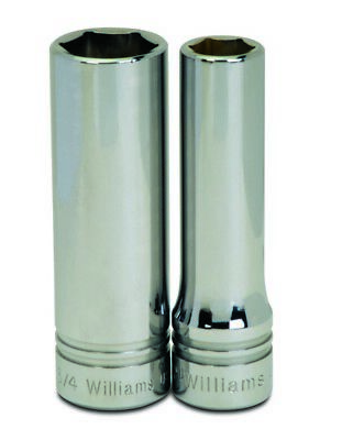 Williams 32314 1//2-Inch Drive 6 Point Deep Socket 7//16-Inch