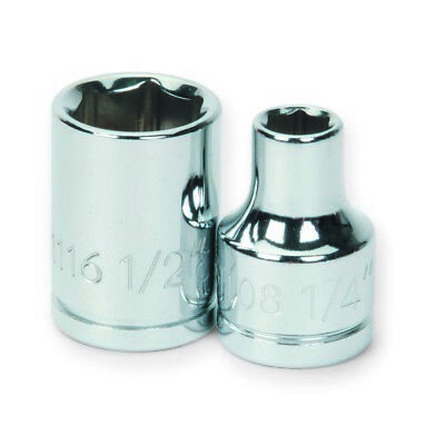 Williams 31114 7/16 Shallow 6-Point Socket with 3/8-Inch Drive