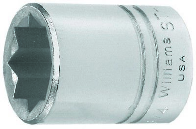Williams ST-826 1/2 Drive Shallow Socket, 8- Point, 13/16-Inch