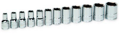 Williams 30926 12-Piece 1/4-Inch Drive Metric Shallow 6 Point Socket Set