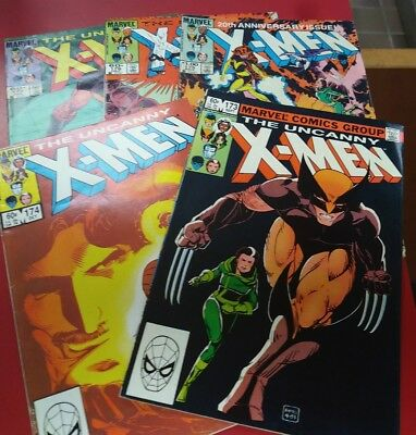 THE UNCANNY X-MEN LOT of 5 #173,174,175,176,177 Wolverine Rogue Kitty Pryde