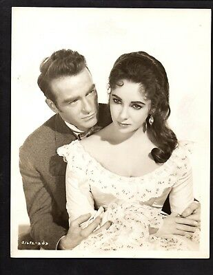 Press Photograph Celebrity Stars Elizabeth Taylor & Montgomery Clift  *4731