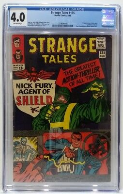 Strange Tales #135 1965 CGC Graded 4.0 OW Pages 1st App Nick Fury Marvel 12c