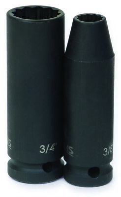 Williams 37422 1/2-Inch Drive 11/16-Inch Deep Impact Socket, 12-Point