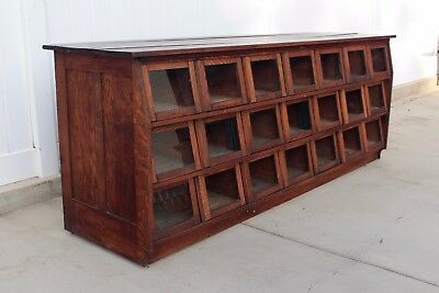Aafa Antique Early General Store 21 Drawer Seed  Bean Sales Counter Dovetailed
