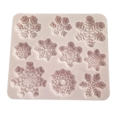 10 Forms Silicone DIY Baking Cake Molds Christmas Snowflake Shape Cake Mold Tray
