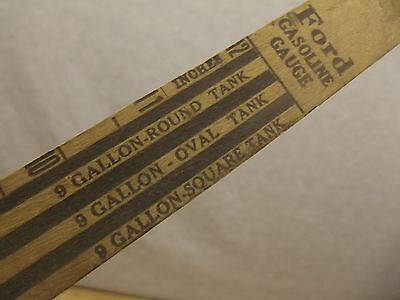 VINTAGE FORD 1920's GASOLINE TANK MEASURE STICK WITH ADVERTISING!!! ORIGINAL