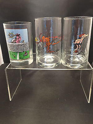 "Arby's Collector's Glasses: ""Luck Out"" 1982  & B. C. Comic Strip Ice Age 1981"