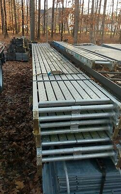 "Werner Aluminum Stage/Scaffold -  24"" Wide x 20' Long - 2 Man 500lbs Capacity."