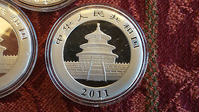 2011 Chinese Silver Panda Coin In Airtite Capsule