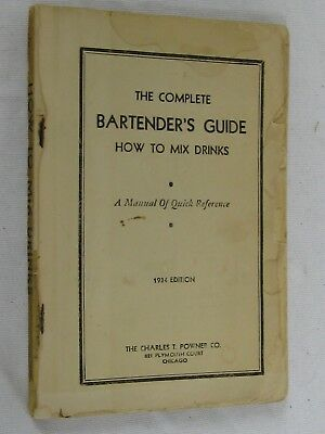 Tom and Jerry's Bartender's Cocktail Handbook Copyright 1934