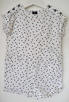 Baby Gap Girls Toddler White With Navy Stars Cotton Playsuit / Shorts Age 2