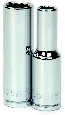 Williams 32412 1/2-Inch Drive Deep Socket, 12-Point, 3/8-Inch