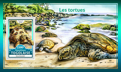 Togo 2016 MNH Turtles Leopard Tortoise 1v S/S Tortues Reptiles Stamps