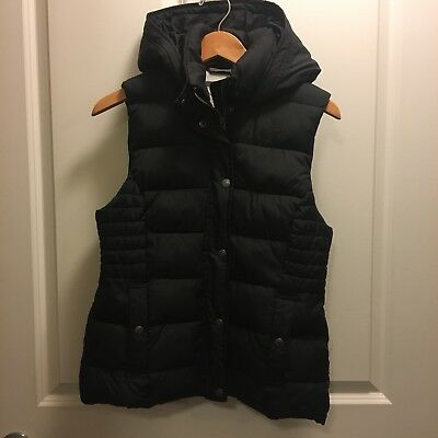 Abercrombie & Fitch Black Hooded Vest Women's Size Medium