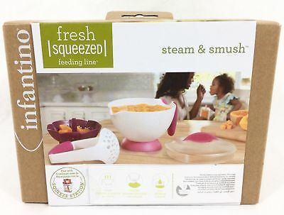 Infantino Fresh Squeezed Steam And Smush Baby Food Prep Store, Serve, Set