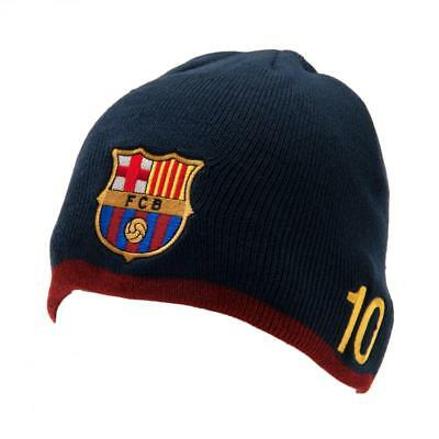 Official Licensed Football F.c. Barcelona Knitted Hat Messi
