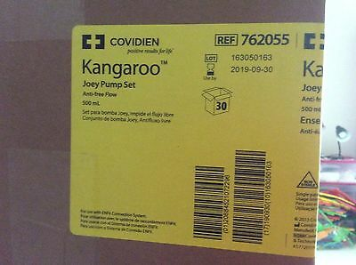 Covidien Kangaroo 500 ml Joey Pump Set Feeding 30 Bags 762055