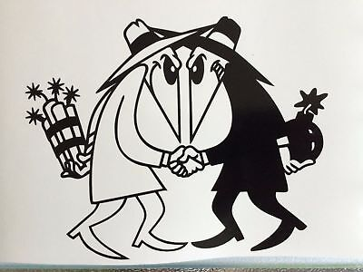 Spy Vs Spy MAD Decal car laptop window wall locker sticker 4 sizes 12 colors