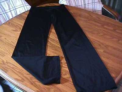 Womens Black Nylon & Lycra Pants  The Line Up Size Medium Dance Pants