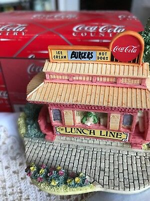 """Coca-Cola Country """"The Lunch Line"""" Trolley #L2069 by Lilliput Lane/Ray Day 1996"""