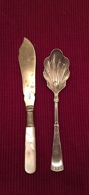 2 fancy pieces of  Flatware Mixed Arts & Crafts Jewelry Vintage Antique