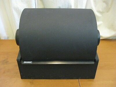 Doublewide Black Rolodex with cards and letter tabs model 2400