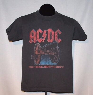 "2008-09 AC DC ""WE SALUTE YOU"" Concert Tour (Youth M) T-Shirt ANGUS YOUNG"