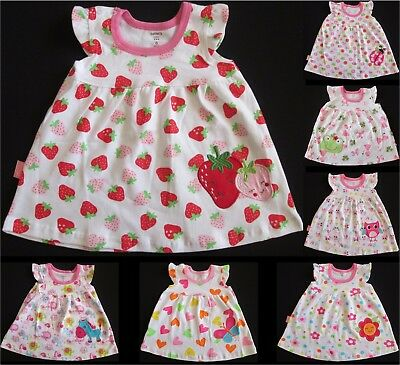 Baby Girls Dress Summer Cotton CARTERS Various Styles Prints Party 00 0 1 NEW
