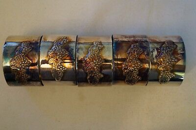 Collectable - Vintage - Group Lot of 5 -Various Napkin Holders -Serviette Rings