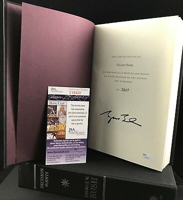 President George W Bush Signed Decision Points Le Book Jsa T38420 #3207 Potus 43