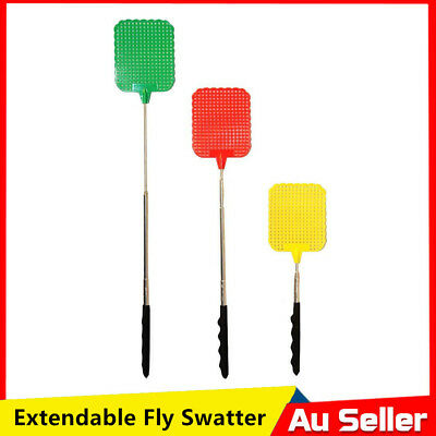 Extends to 73cm Handle Telescopic Insect Fly Swat Swatter Mosquito Extendable