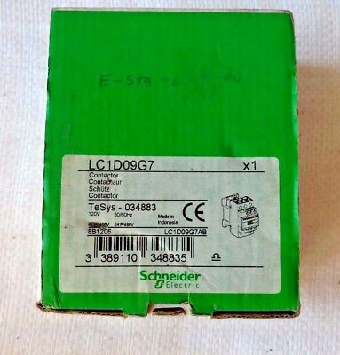 Schneider Contactor  LC1D09G7 With Coil 120VAC 50/60Hz