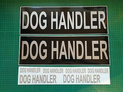 DOG HANDLER Magnet Doorman K9 Unit Handler Car Door Magnets 460x150mm x 2