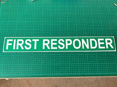 FIRST RESPONDER Ambulance Emergency Paramedic Retained Medic  Car Magnet 620mm