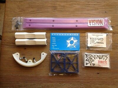 Nos Vintage Powell Peralta Nose Bone,Vision Gullwing And Tracker Plastics