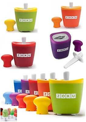 Zoku Single Quick Pop Maker Ice-Cream Maker - Various Colour